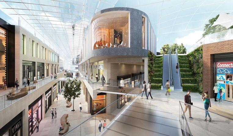 Het oorspronkelijke ontwerp van het winkelcentrum zou intussen tot een 'light' versie afgeslankt zijn.