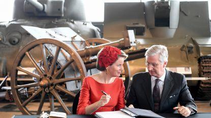Koning herdenkt honderd jaar Grote Oorlog in Canadees oorlogsmuseum