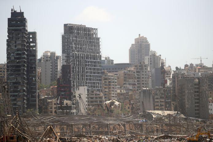 Les immeubles résidentiels du quartier du port de Beyrouth dévastés par la catastrophe