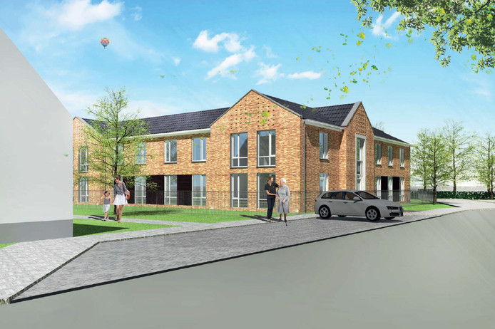 Een impressie van het nieuw te bouwen gebouw voor mensen met dementie.