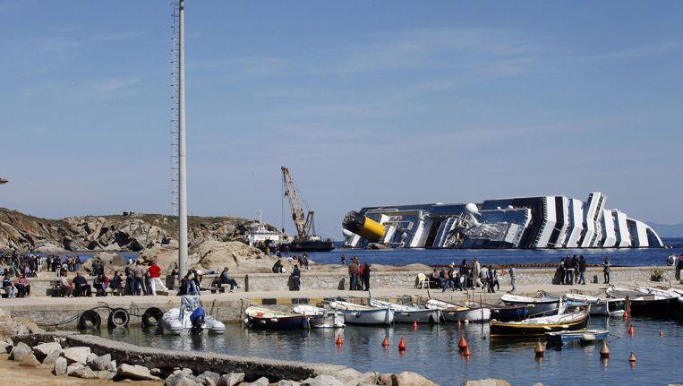 De gestrande Costa Concordia Beeld EPA