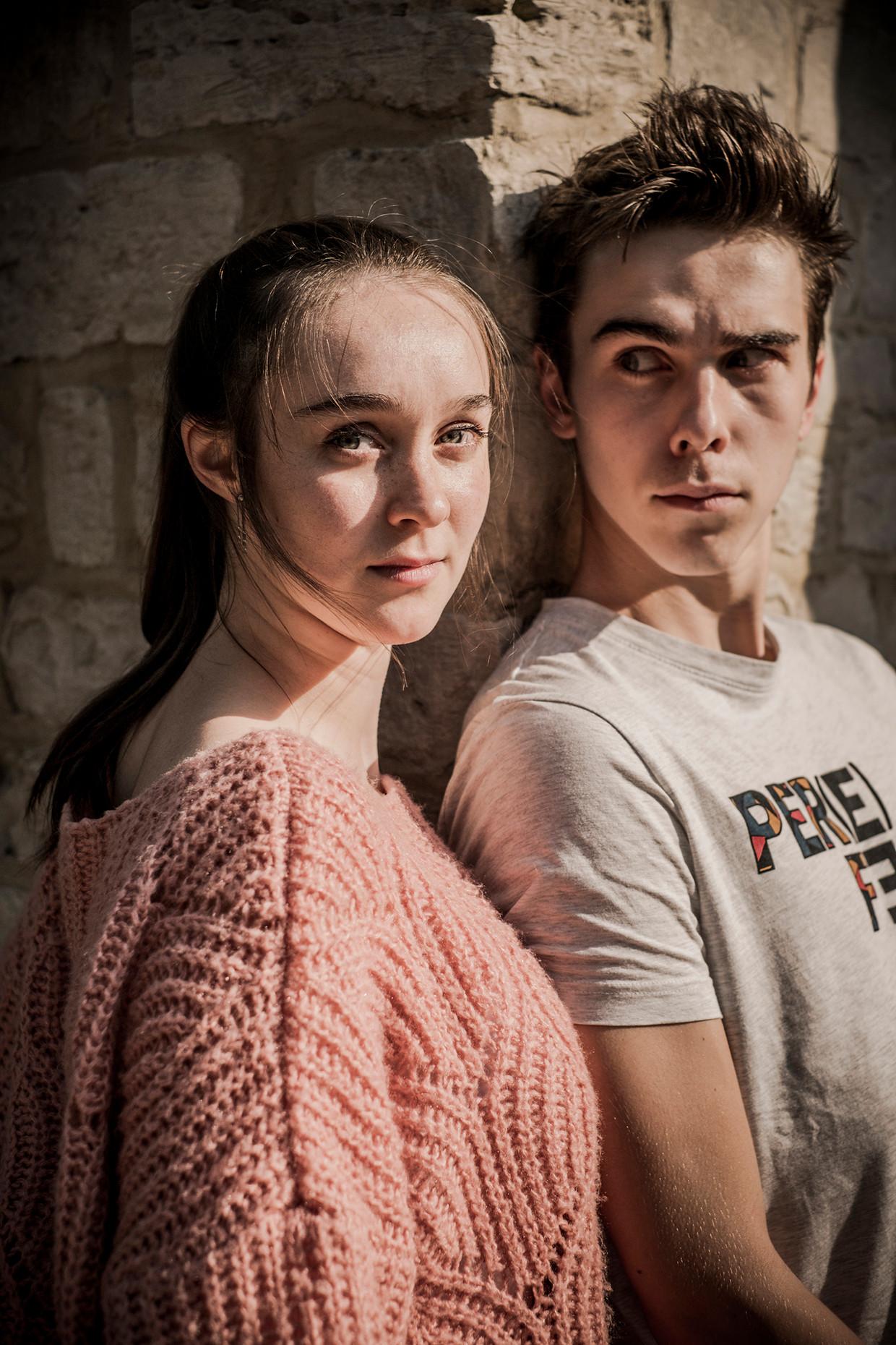 Warre (16) en Emma (20) Verlinden, broer en zus.