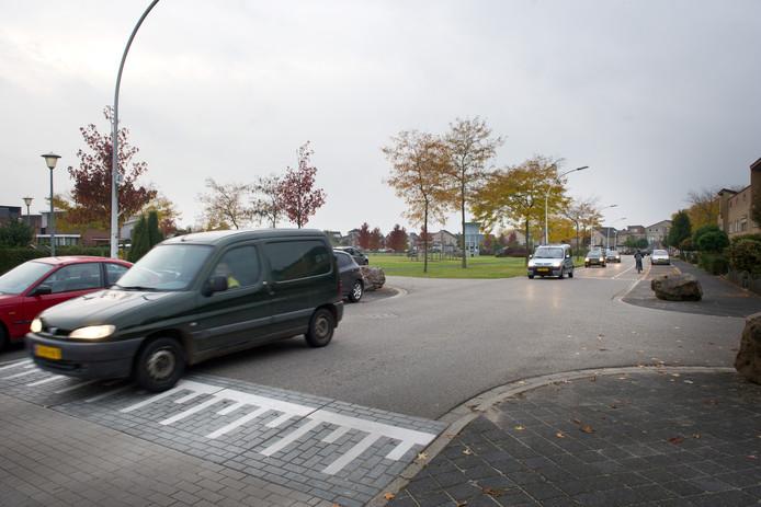 Verkeer in de wijk Kerkeveld.