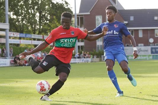 De wedstrijd NEC tegen De Treffers