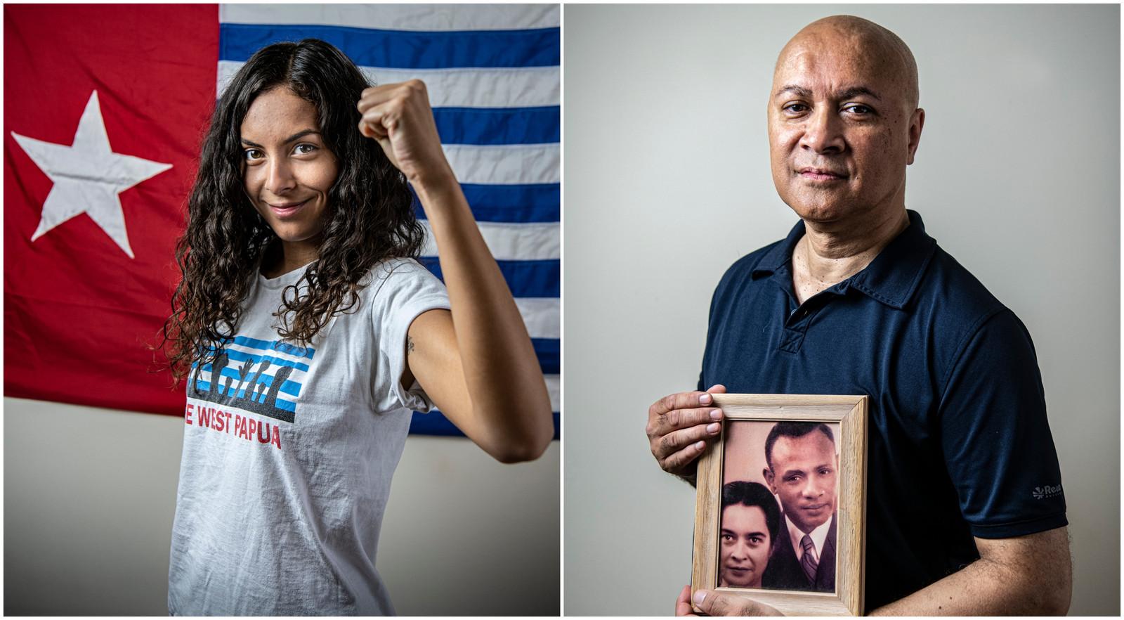 Julia Jouwe en  haar vader Nico Jouwe strijden voor 'de rechtvaardige zaak': zelfbestuur voor Papoea.