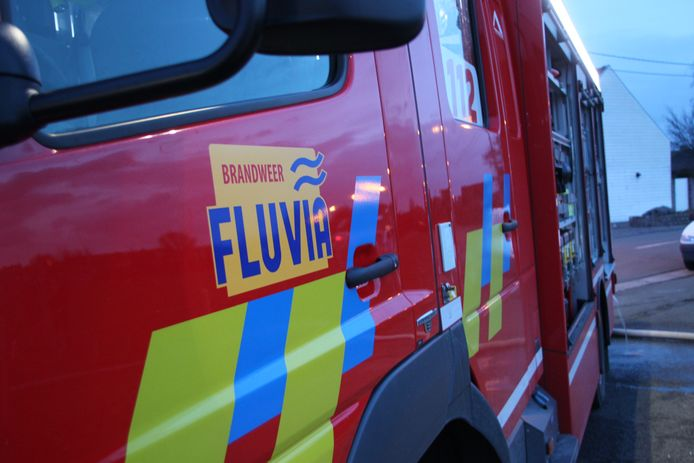 De brandweer van de zone Fluvia rukte uit.