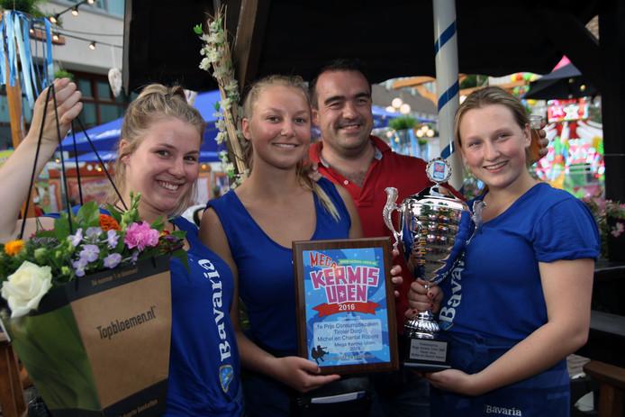 Het winnende team van het Tiroler dorp.