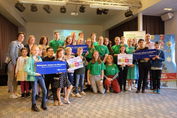 Drie Mechelse scholen wonnen de titel van Schoonste school