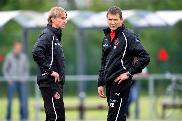 Rudi Verkempinck (r) hier in Brugge met Adrie Koster.