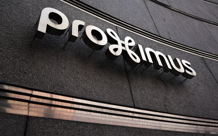 Het logo van Proximus.