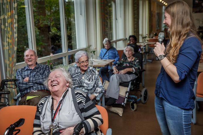 Deelnemers van een interactief college afgelopen november in een verpleeghuis in Amsterdam.