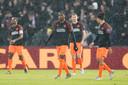PSV'ers balen tijdens het duel met Feyenoord.