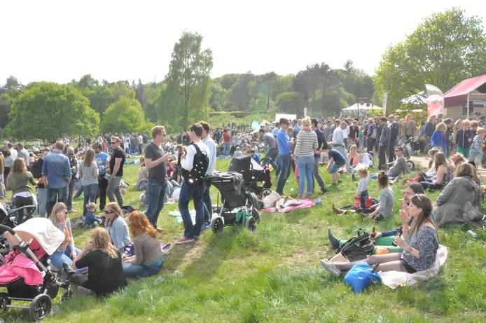Foto ter illustratie: 60 procent van het publiek komt naar Hoogte80 vanwege de 'nomadensfeer'.
