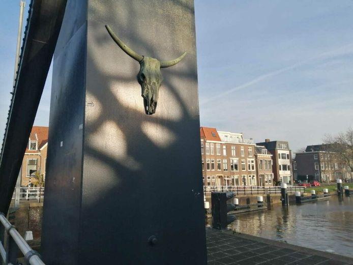 Koeienkop op Delftse  Koepoortbrug is vermist.