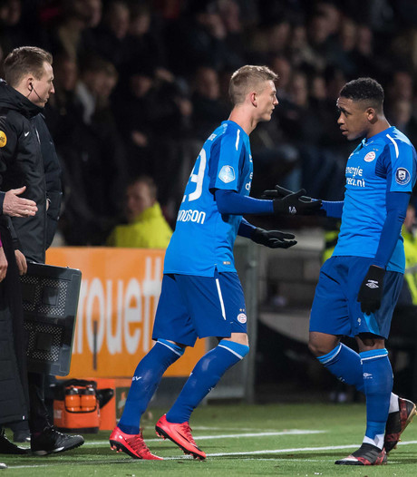 PSV'er Albert Gudmundsson: 'Assist was goed, de afronding van Luuk nog beter'