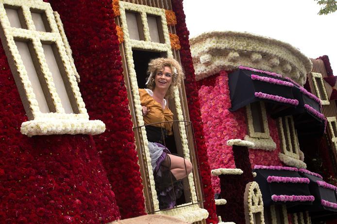 Een 'publieke vrouw' op de wagen van Vedut Nogal.