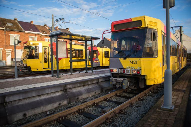 Trams van Waalse vervoersmaatschappij TEC.
