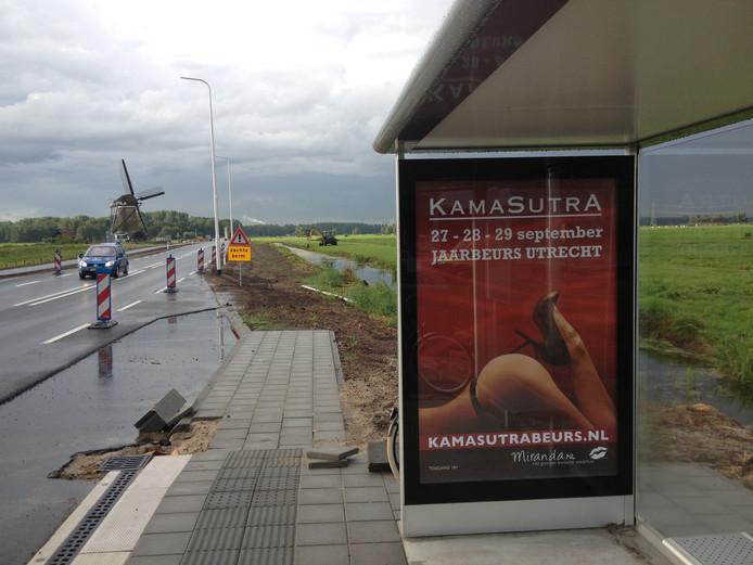 In 2013 werd reclame gemaakt voor de Kamasutrabeurs.