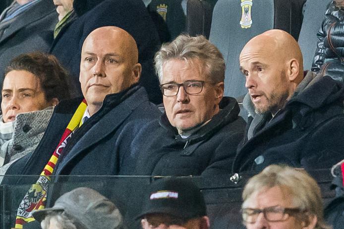 De nieuwe tweemansdirectie van GA Eagles - Edwin Lugt (l) en Hans de Vroome (m) - hebben trainer Leon Vlemmings ontslagen.