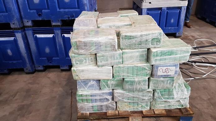 De cocaïne die in Oss werd afgeleverd.