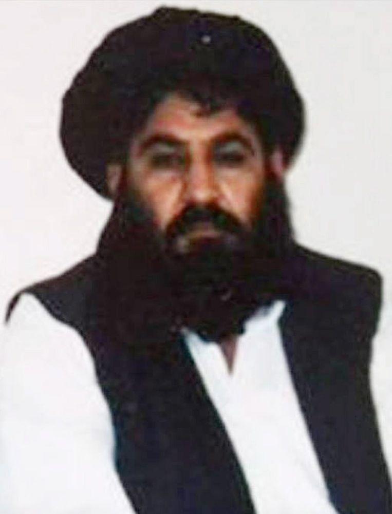 Een foto van Mullah Akhtar Mansour,in 2014 gemaakt met een mobiele telefoon. Beeld null