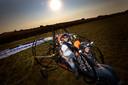 Samen met Frank Verberne uit Milheeze in de tandem trike paramotor.