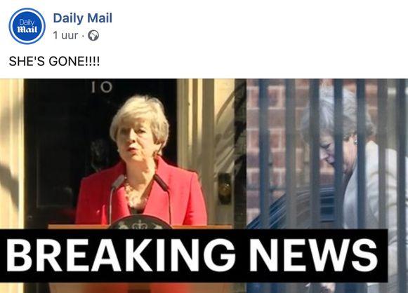 De reactie van 'The Daily Mail' liet aan duidelijkheid niets te wensen over.