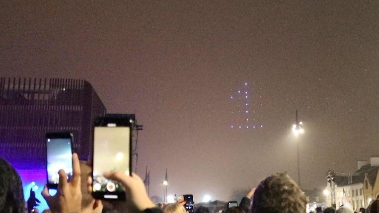 Dronespektakel in Brugge gaat de mist in.