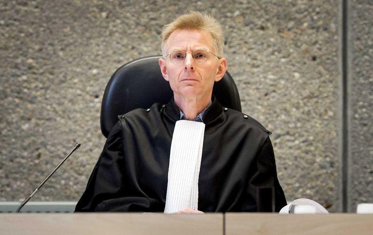 Rechter Dhr. Boot tijdens het kort geding van de bonden tegen Vroom en Dreesman. Beeld anp