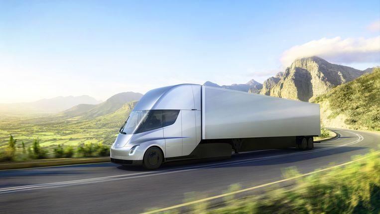 De elektrische truck van Tesla