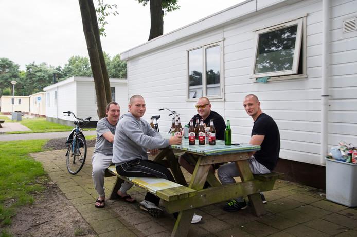 Foto ter illustratie van Poolse arbeidsmigranten elders in het land.