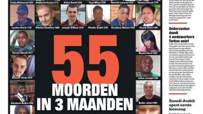 55 moorden in 3 maanden