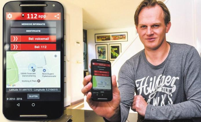 Erik Blaauw uit Vlijmen bedacht een 112-app.