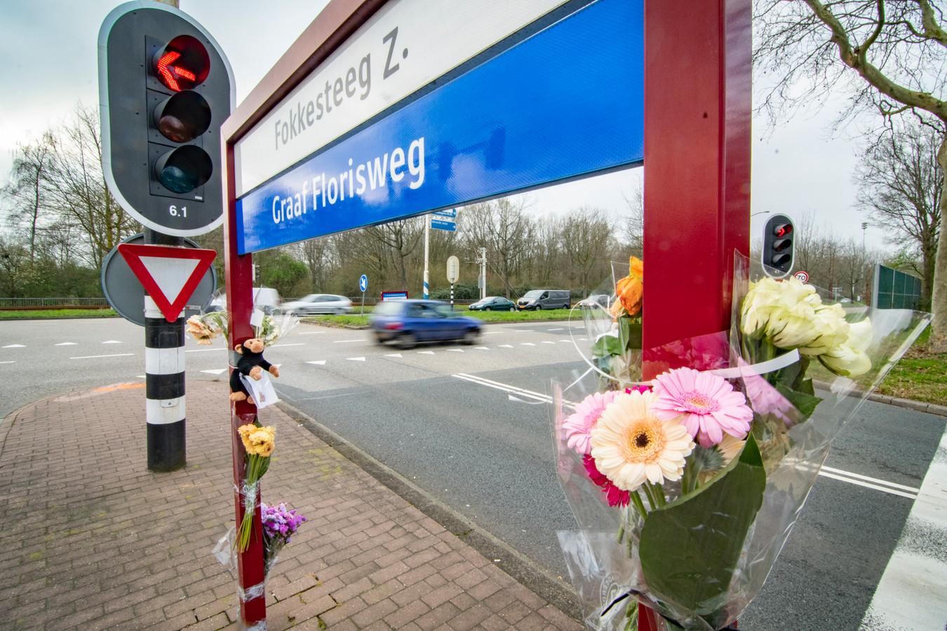 De kruising in Nieuwegein, waar op 10 maart de 8-jarige Milan om het leven kwam.