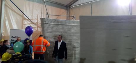 3D-printen De Vergaderfabriek Teuge begonnen, gebouw moet er in april staan