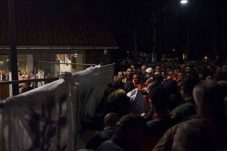 Het protest in Geldermalsen, in december 2015 Beeld anp