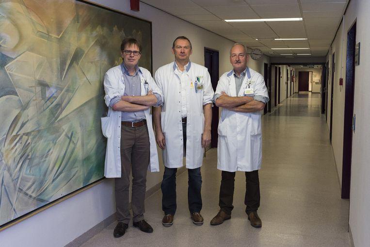 Dokters Jeroen Mebis, Guy Orye en Paul Bulens.