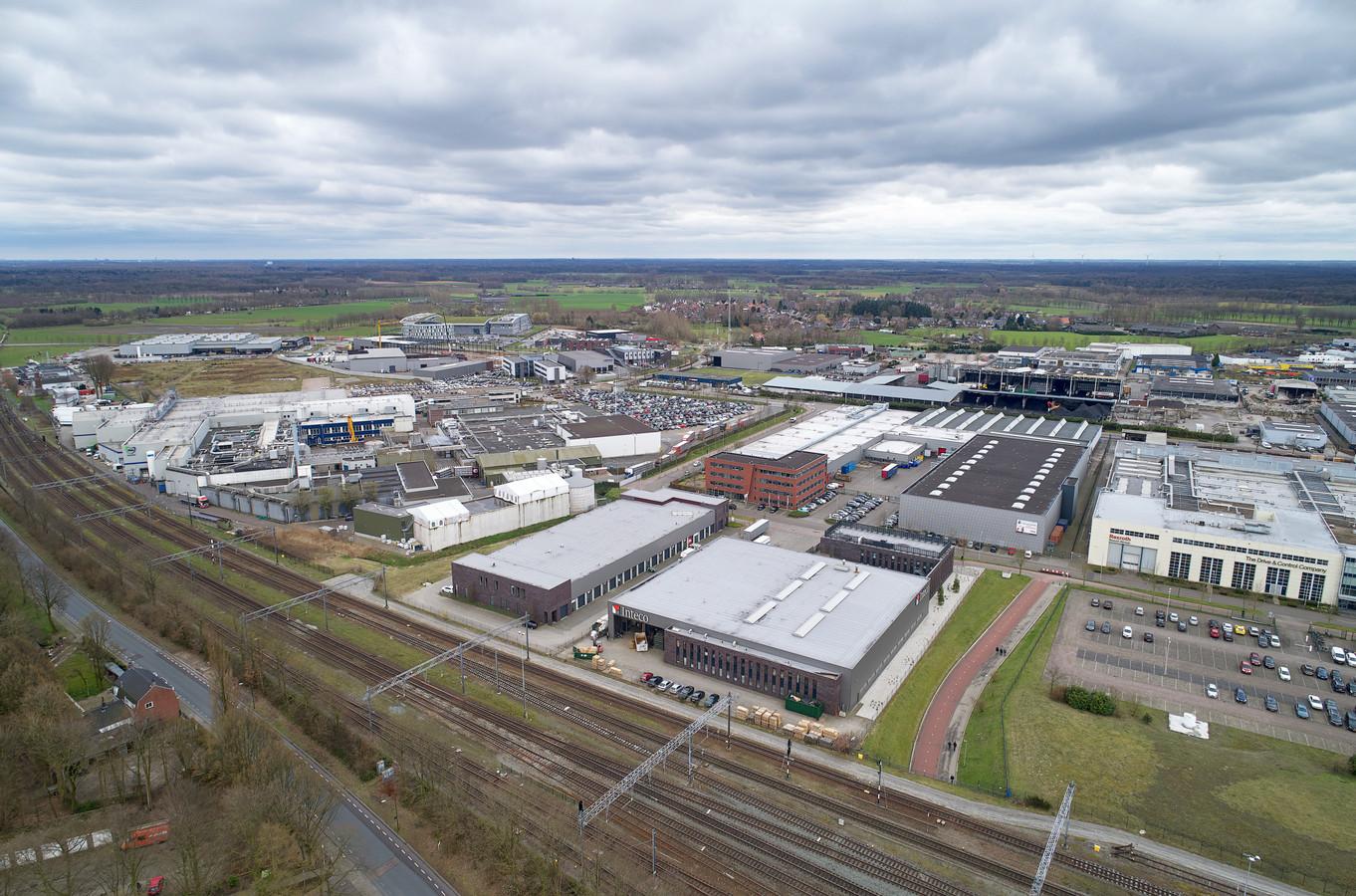 Industrieterrein Ladonk te Boxtel.  Links Vion en rechts Rexroth.