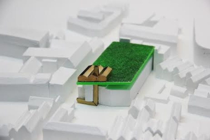 Misschien extra dak met groene weide voor parkeergarage in Den Bosch