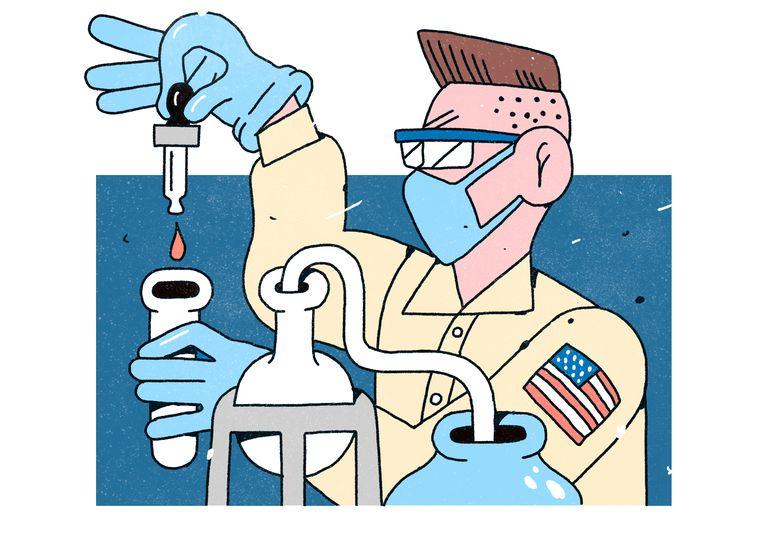 Volgens Trump is de oorsprong van het virus te traceren naar een laboratorium in Wuhan.  Beeld Philip Lindeman
