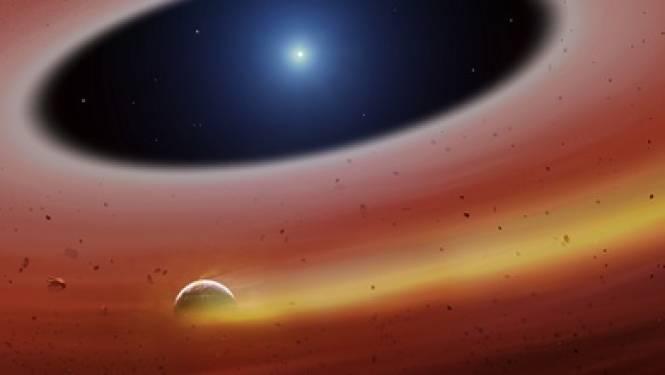 Planeetje in puinschijf rond 'dode ster' ontdekt