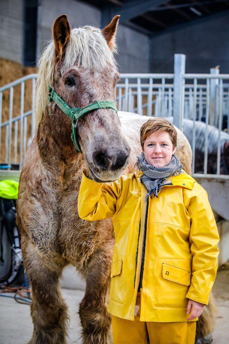 Nele Bekaert is de eerste vrouwelijke paardenvisser