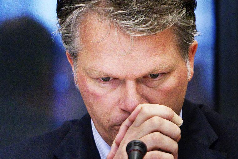Bos tijdens het debat over het faillissement van DSB Bank (ANP) Beeld