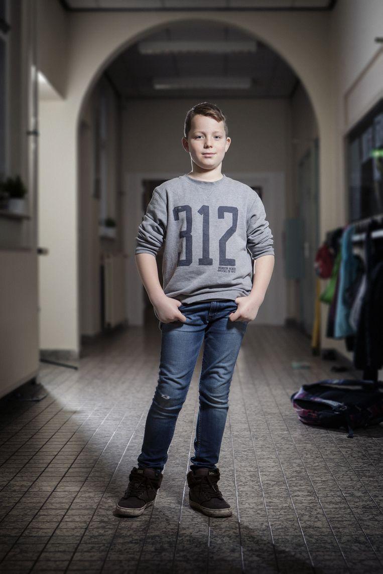 Ivo de Groot, 10 jaar. Beeld Eddo Hartmann
