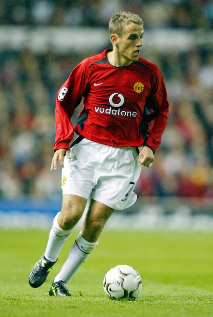 Phil Neville in zijn tijd bij Manchester United.