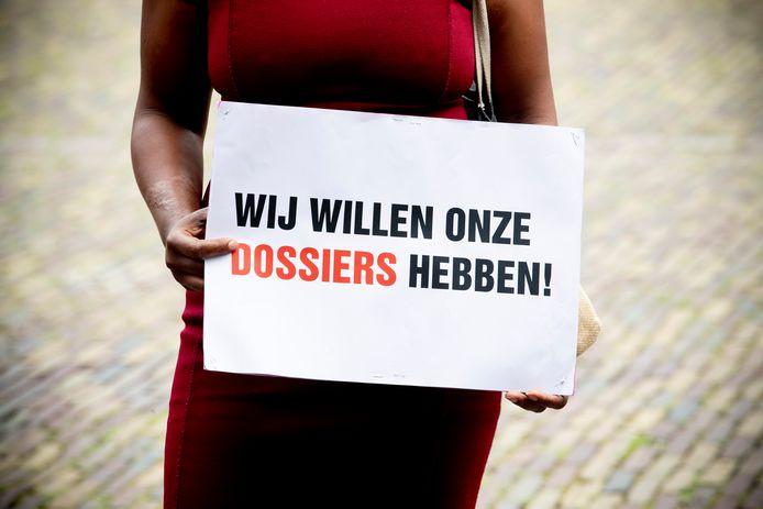 Gedupeerden van de toeslagenaffaire kwamen eerder dit jaar in Den Haag in actie voor compensatie.