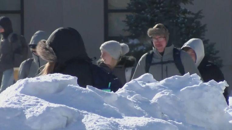 In het midwesten van de VS daalt de temperatuur tot ruim 30 graden onder nul.
