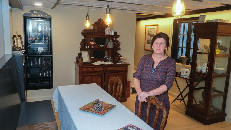 Marktkraamster Greta Grymonprez en haar man David Coulembier openen Cuerne B&B in hun woning, die drie gastenkamers telt.