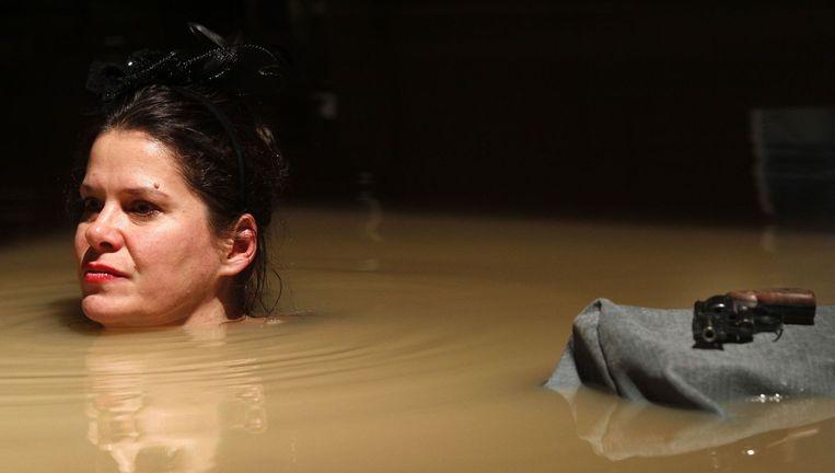 Julia Wieninger in Happy Days van Samuel Beckett. Beeld Klaus Lefebvre