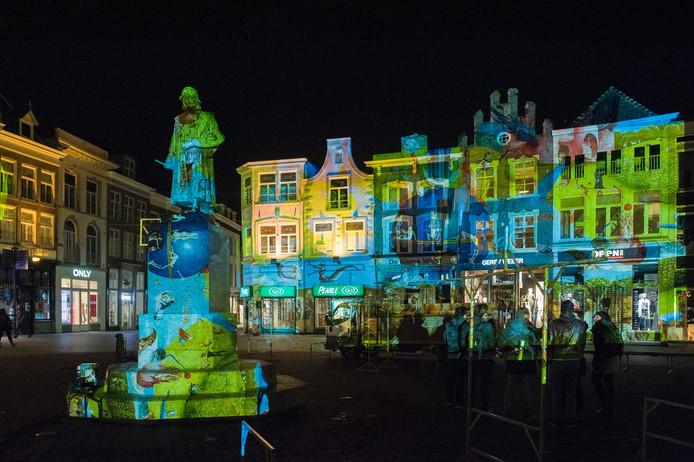 Vrijdag 4 maart zou voor de eerste keer de Bosch by Night lichtshow worden gehouden.